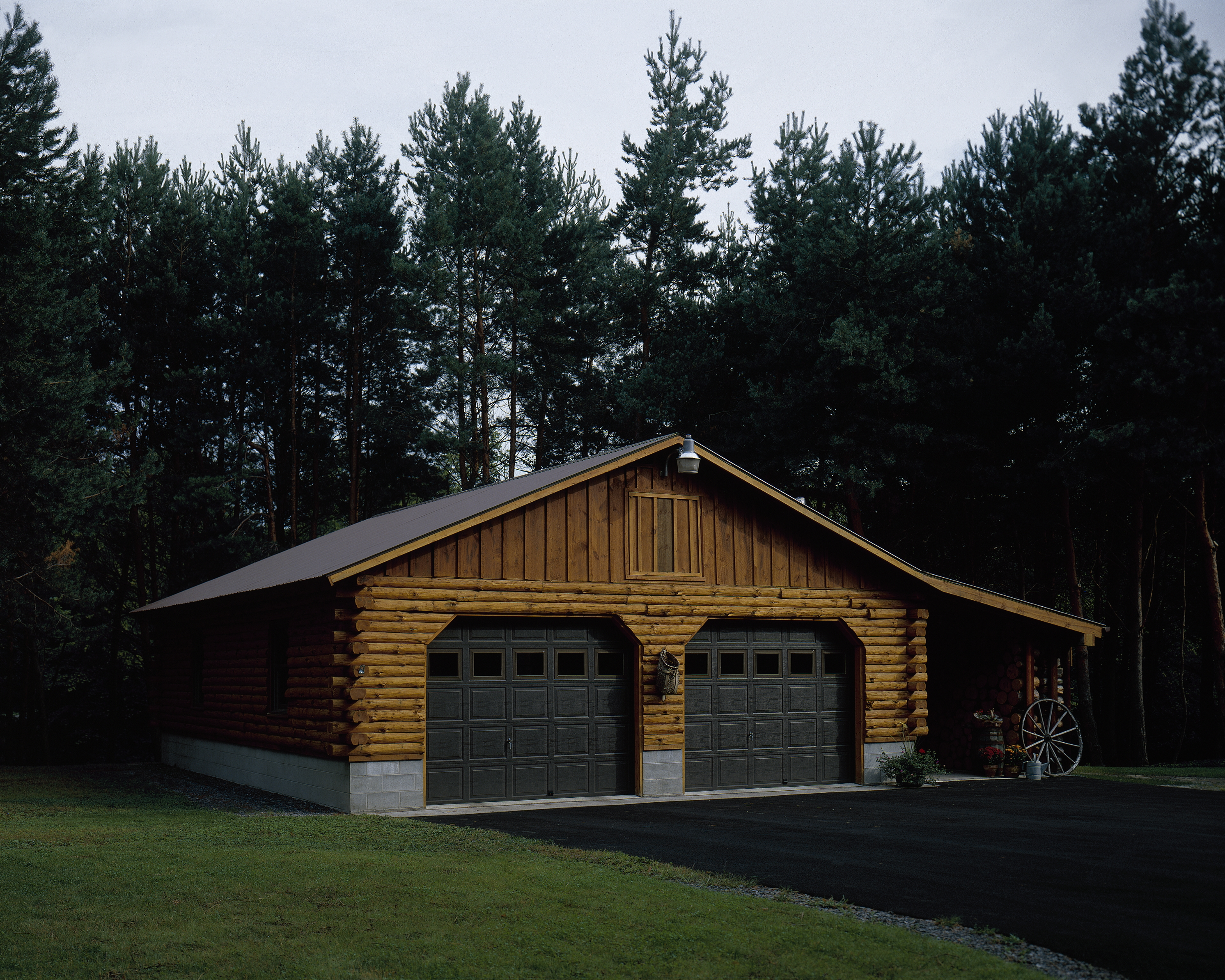 Log Garage Kits With Loft